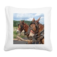 Two Mules for Sister Sue Square Canvas Pillow