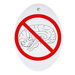 The No Brain Oval Ornament