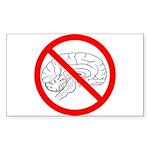 The No Brain Rectangle Sticker