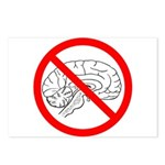 The No Brain Postcards (Package of 8)