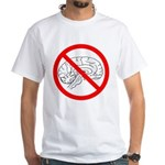 The No Brain White T-Shirt