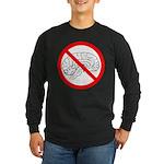 The No Brain Long Sleeve Dark T-Shirt