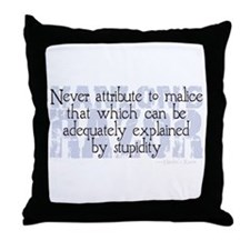 Hanlon's Razor Throw Pillow