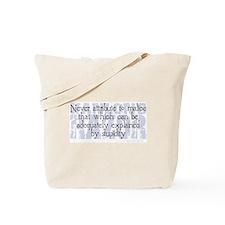 Hanlon's Razor Tote Bag