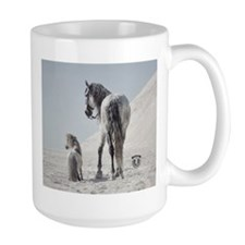 Andalusian Stallion with mini Mugs