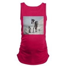 Andalusian Stallion with mini Maternity Tank Top