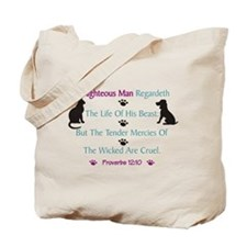 Righteous Care For Pets Tote Bag