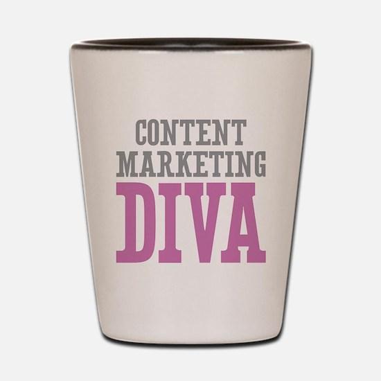 Content Marketing DIVA Shot Glass