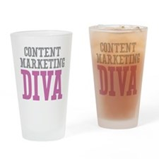 Content Marketing DIVA Drinking Glass