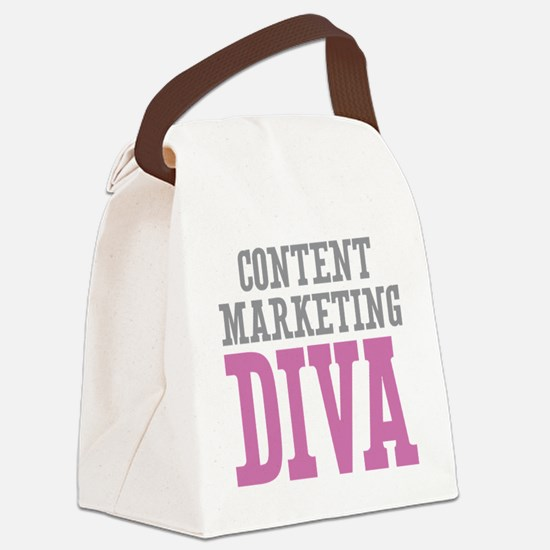 Content Marketing DIVA Canvas Lunch Bag