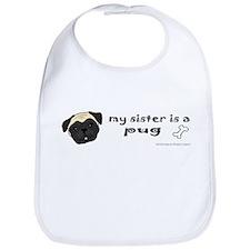 Big brother pug Bib