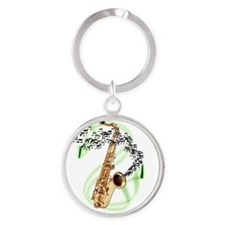 Unique Band Round Keychain