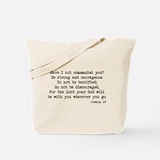 Joshua 1:9 Tote Bag