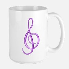 Treble Clef Large Mug (Grape)