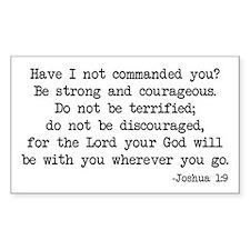 Joshua 1:9 Rectangle Decal