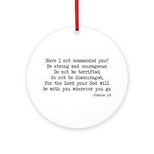 Joshua 1:9 Ornament (Round)