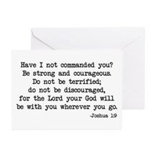 Joshua 1:9 Greeting Cards (Pk of 10)