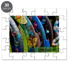 Riding at sunset Puzzle