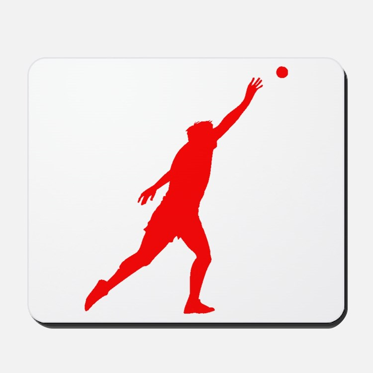 Red Shot Put Silhouette Mousepad