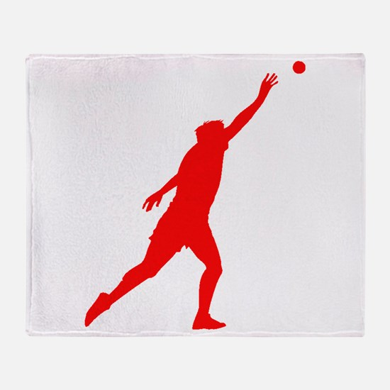 Red Shot Put Silhouette Throw Blanket