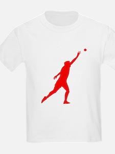 Red Shot Put Silhouette T-Shirt