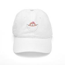 peek a boo baby girl pregnant pregnancy schwan Baseball Cap