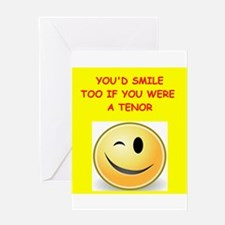 tenor Greeting Cards