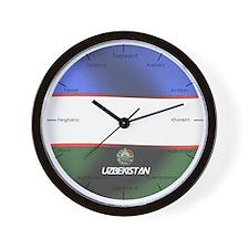 Unique Uzbekistan flag Wall Clock