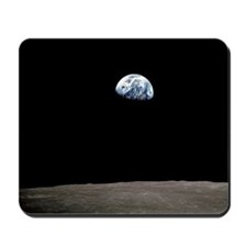 """Apollo 8 Earth and Moon"" Mousepad"