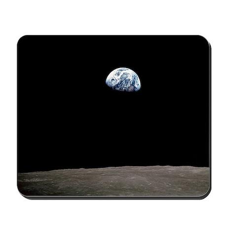 """Apollo 8 Earth and Moon"" Mousepad"