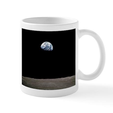 """""""Apollo 8 Earth and Moon"""" Mug"""