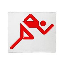 Red Runner Throw Blanket