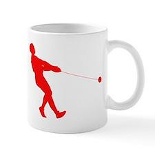 Red Hammer Throw Silhouette Mugs