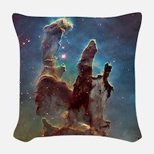 Pillars Of Creation Woven Throw Pillow