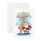 Funny hanukkah Greeting Cards (20 Pack)