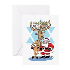 Jews 4 Santa Holiday Greeting Cards