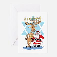 Jews 4 Santa Holiday Greeting Cards