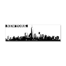 Lower Manhattan, New York Skylin Car Magnet 10 x 3