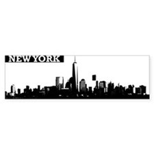 Lower Manhattan, New York Skyline Bumper Sticker