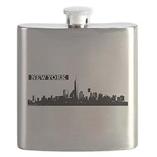 Lower Manhattan, New York Skyline Flask