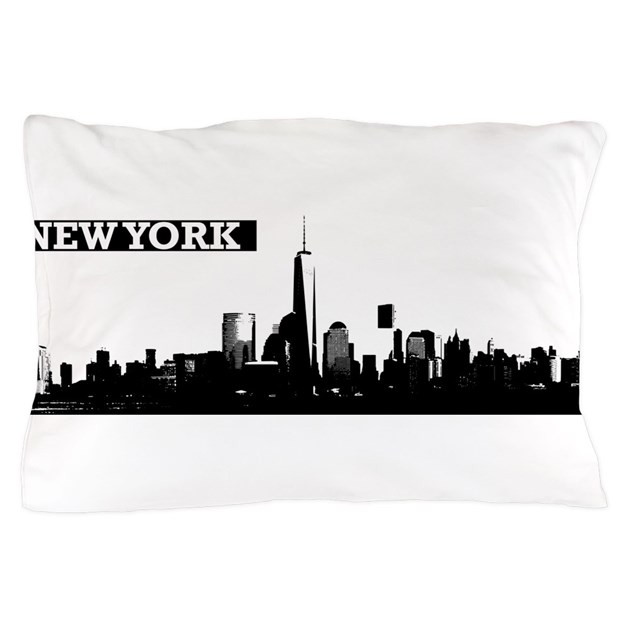 Lower manhattan new york skyline pillow case by admin for Case vacanza a new york manhattan