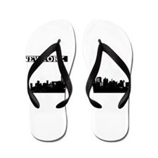 Lower Manhattan, New York Skyline Flip Flops