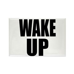 WAKE UP Message Rectangle Magnet (100 pack)