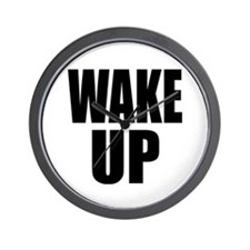 WAKE UP Message Wall Clock