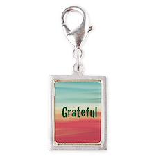 grateful Silver Portrait Charm