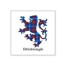 "Lion - Edinburgh dist. Square Sticker 3"" x 3"""