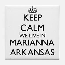 Keep calm we live in Marianna Arkansa Tile Coaster