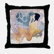 Art Deco Vanity Lady Throw Pillow