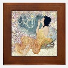 Art Deco Vanity Lady Framed Tile