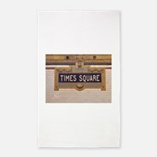 Times Square Subway Station Area Rug